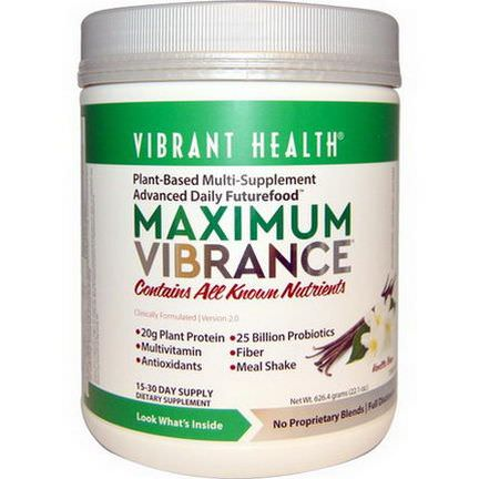 Vibrant Health, Maximum Vibrance, Version 2.0, Vanilla Bean 626.4g