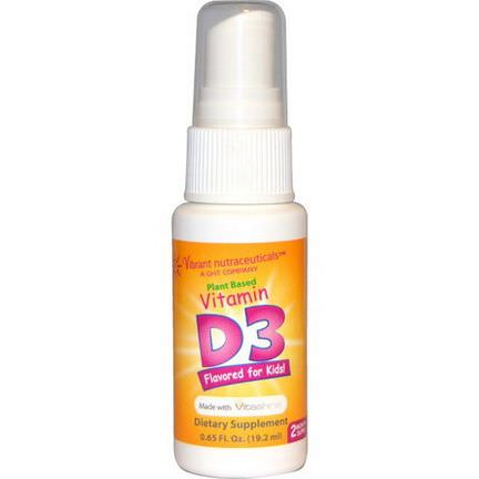 Vibrant Nutraceuticals, Vitamin D3, Plant Based, Flavored for Kids! 19.2ml