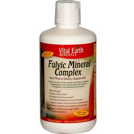 Vital Earth Minerals, Fulvic Mineral Complex, Ionic Mineral Dietary Supplement 946ml