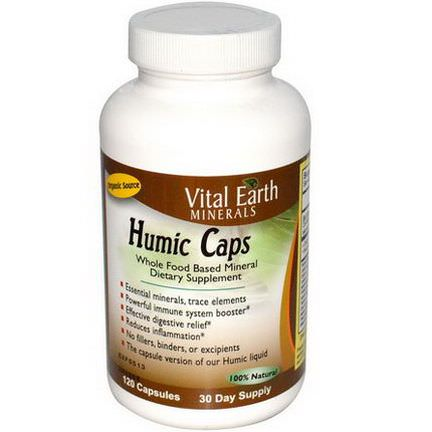 Vital Earth Minerals, Humic Caps, 120 Capsules