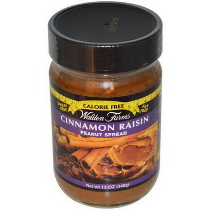 Walden Farms, Peanut Spread, Cinnamon Raisin 340g