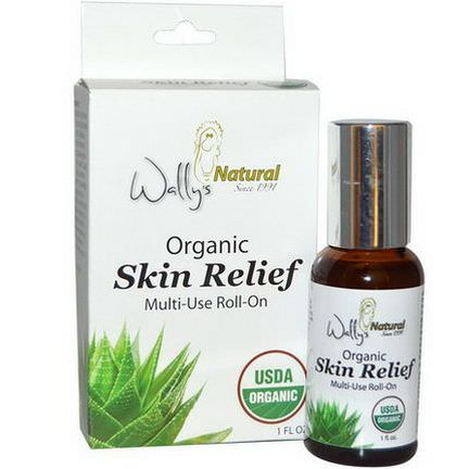 Wally's Natural Products, Organic, Skin Relief, Multi-Use Roll-On, 1 fl oz