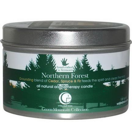 Way Out Wax, All Natural Aromatherapy Candle, Northern Forest 190g