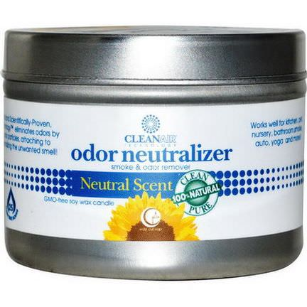 Way Out Wax, Odor Neutralizer Candle, Natural Scent 85g