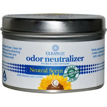 Way Out Wax, Odor Neutralizer Candle, Natural Scent 190g