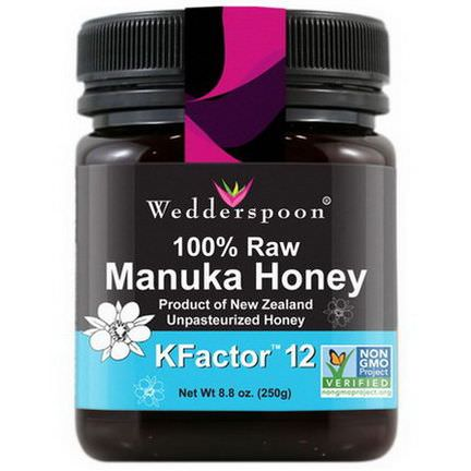 Wedderspoon Organic, Inc. 100% Raw Manuka Honey, KFactor 12 250g