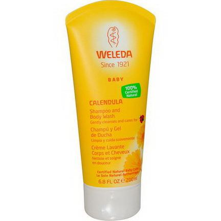 Weleda, Calendula, Baby Shampoo and Body Wash 200ml