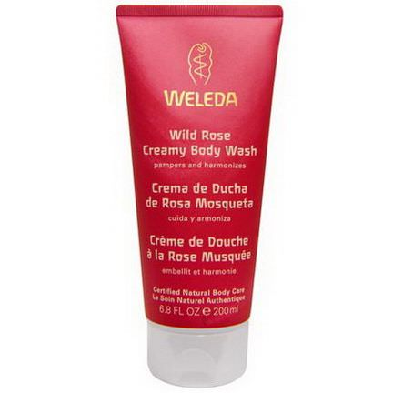 Weleda, Wild Rose Creamy Body Wash 200ml