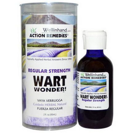 Wellinhand Action Remedies, Wart Wonder, Regular Strength 60ml