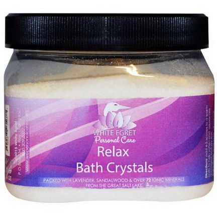 White Egret Personal Care, Relax Bath Crystals, 16 oz