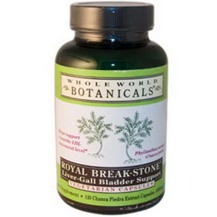 Whole World Botanicals, Royal Break-Stone, Liver-Gall Bladder Support, 400mg, 120 Veggie Caps