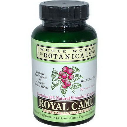 Whole World Botanicals, Royal Camu, 350mg, 140 Veggie Caps