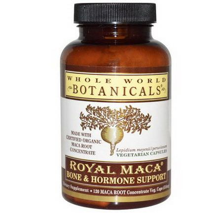 Whole World Botanicals, Royal Maca, Bone&Hormone Support, 120 Veggie Caps