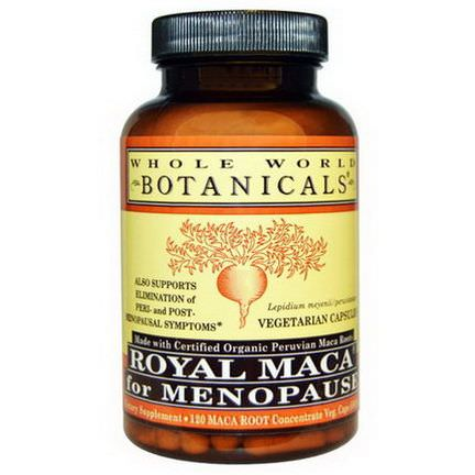Whole World Botanicals, Royal Maca for Menopause, 500mg, 120 Veggie Caps