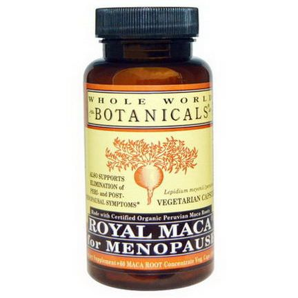 Whole World Botanicals, Royal Maca for Menopause, 500mg, 60 Veggie Caps