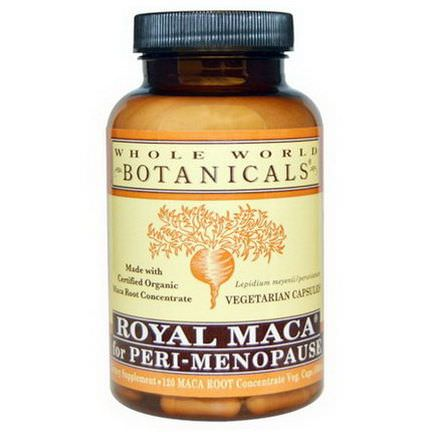Whole World Botanicals, Royal Maca for Peri-Menopause, 120 Veggie Caps
