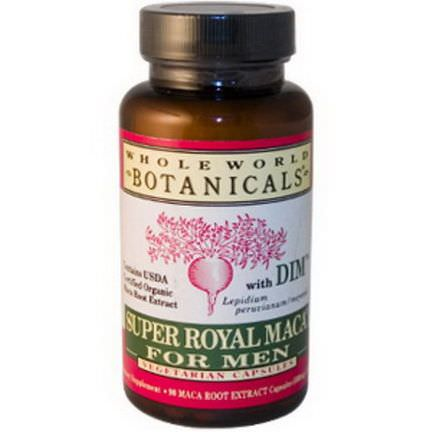 Whole World Botanicals, Super Royal Maca For Men, 500mg, 90 Veggie Caps