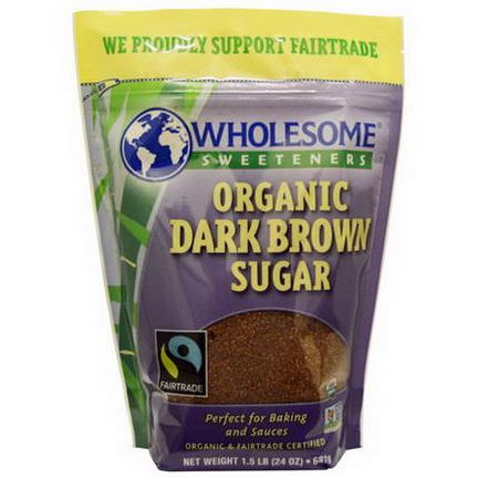 Wholesome Sweeteners, Inc. Organic Dark Brown Sugar 681g