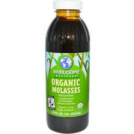 Wholesome Sweeteners, Inc. Organic Molasses, Unsulphured 472ml