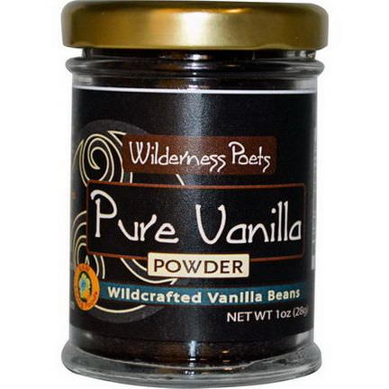 Wilderness Poets, Pure Vanilla Powder, Wildcrafted Vanilla Beans 28g
