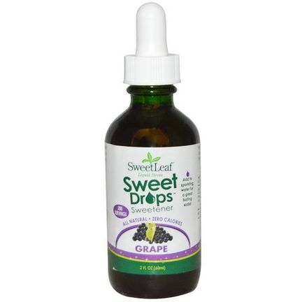 Wisdom Natural, SweetLeaf, Liquid Stevia Sweet Drops, Grape 60ml