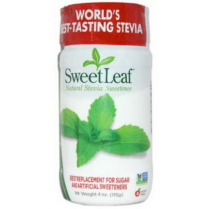 Wisdom Natural, SweetLeaf, Natural Stevia Sweetener 115g