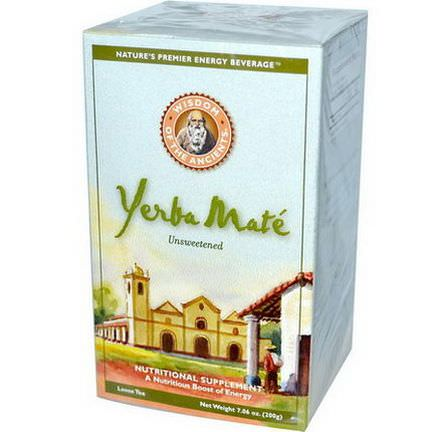 Wisdom Natural, Wisdom of the Ancients, Yerba Mate, Loose Tea, Unsweetened 200g