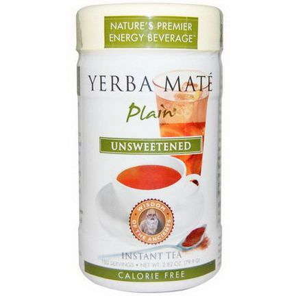 Wisdom Natural, Wisdom of the Ancients, Yerba Mate Plain, Unsweetened, Instant Tea 79.9g