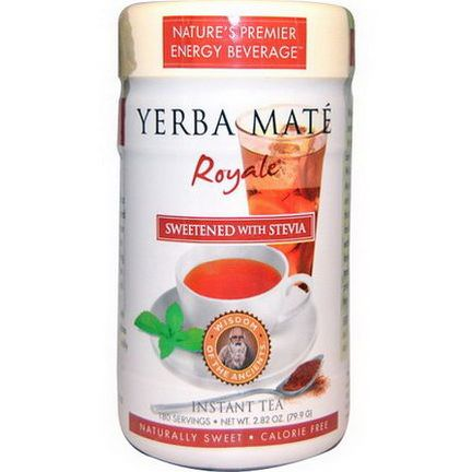Wisdom Natural, Yerba Mate Royale, Sweetened with Stevia, Instant Tea 79.9g
