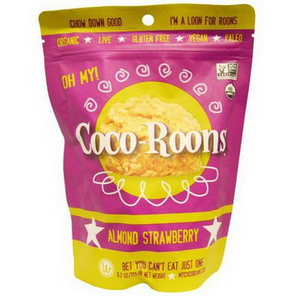 Wonderfully Raw Gourmet Delights, Coco-Roons, Almond Strawberry 176g