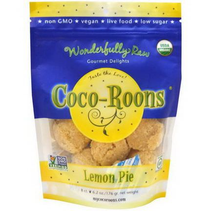 Wonderfully Raw Gourmet Delights, Organic Coco-Roons, Lemon Pie, 8 Count 176g