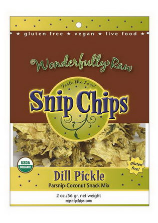 Wonderfully Raw Gourmet Delights, Snip Chips, Dill Pickle 56g