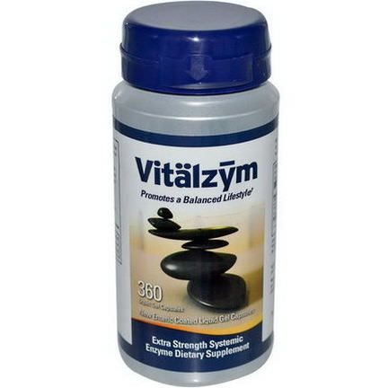 World Nutrition Inc. Vitalzym, Vegetarian Formula, 360 Liquid Gel Capsules
