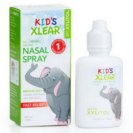 Xlear Inc Xclear, Kid's Xlear, Saline Nasal Spray 22ml