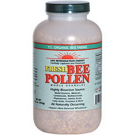 Y.S. Eco Bee Farms, Fresh Bee Pollen Whole Granules 454g