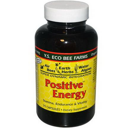 Y.S. Eco Bee Farms, Positive Energy, 75 Capsules