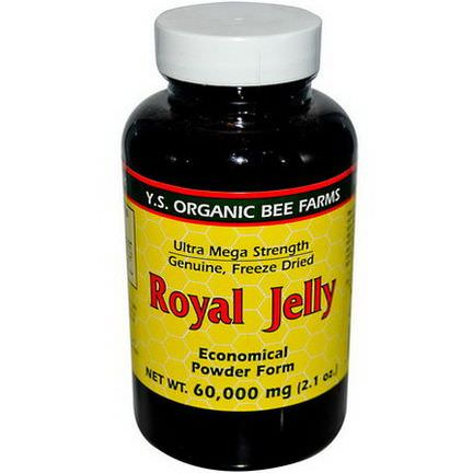 Y.S. Eco Bee Farms, Royal Jelly, Economical Powder Form 60,000mg