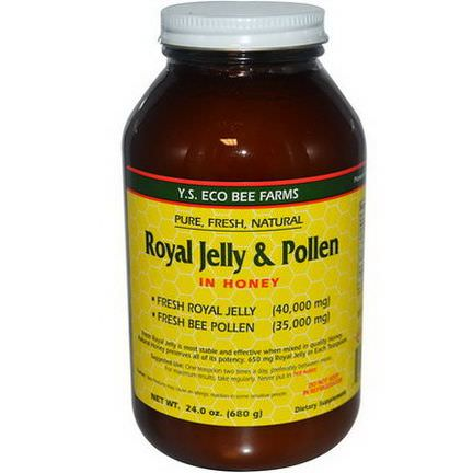 Y.S. Eco Bee Farms, Royal Jelly&Pollen, in Honey 680g