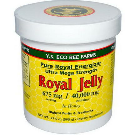 Y.S. Eco Bee Farms, Royal Jelly, in Honey, 675mg 595g