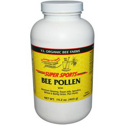 Y.S. Eco Bee Farms, Super Sports, Bee Pollen, Protein Drink Enhancer 403g
