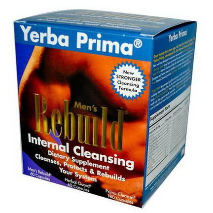 Yerba Prima, Men's Rebuild Internal Cleansing, 3 Part Program