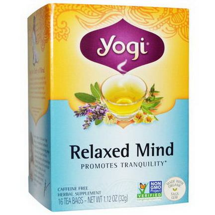 Yogi Tea, Relaxed Mind, Caffeine Free, 16 Tea Bags 32g