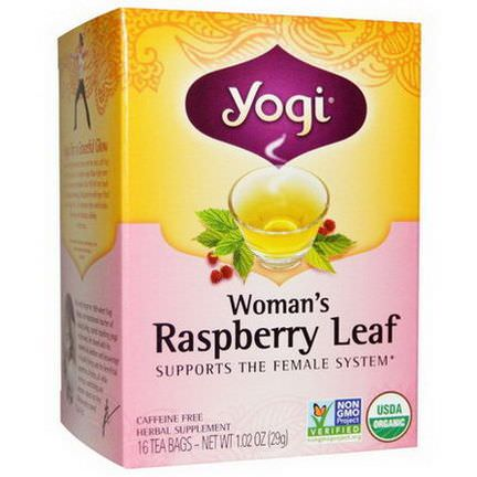 Yogi Tea, Woman's Raspberry Leaf, Caffeine Free, 16 Tea Bags 29g