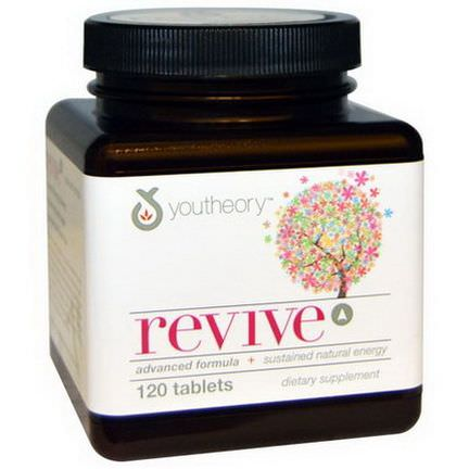 Youtheory, Revive Advanced Formula Sustained Natural Energy, 120 Tablets
