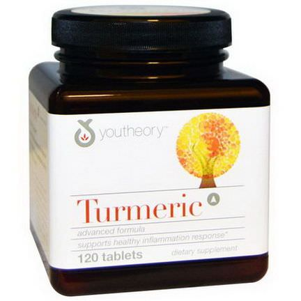 Youtheory, Turmeric Advanced Formula, 120 Tablets