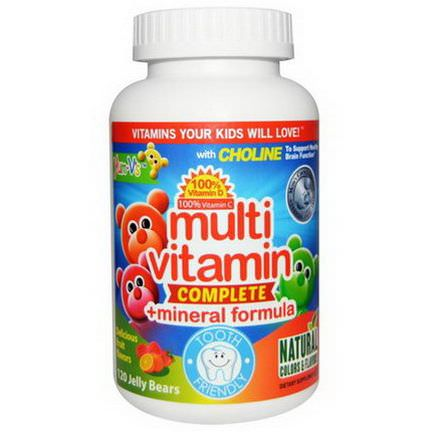 Yum-V's, Multi Vitamin Complete Mineral Formula, Delicious Fruit Flavors, 120 Jelly Bears