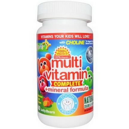 Yum-V's, Multivitamin Complete Mineral Formula, Fruit Flavors, 60 Jelly Bears