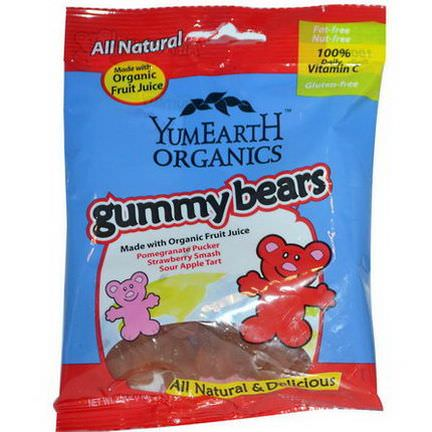 Yummy Earth, Organic Gummy Bears, 12 Packs 71g Each