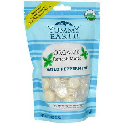 YumEarth, Organic Refresh Mints, Wild Peppermint 93.5g