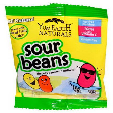 YumEarth, Sour Jelly Beans Bulk, 50 Packs, 20g Each